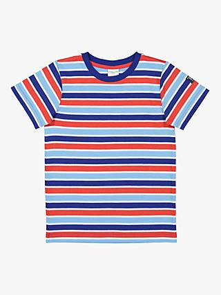 Polarn O. Pyret Children's Stripe T-Shirt, Red