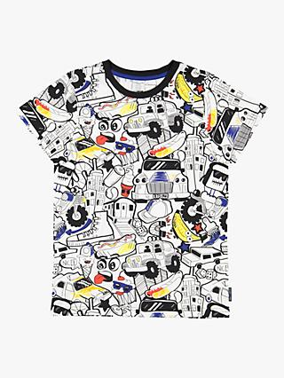 Polarn O. Pyret Children's Graffiti T-Shirt, Black