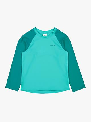 Polarn O. Pyret Children's UV Long Sleeve Swim Top, Green/Teal