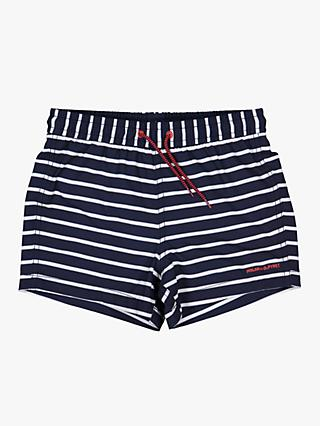Polarn O. Pyret Children's Stripe Swim Shorts, Blue
