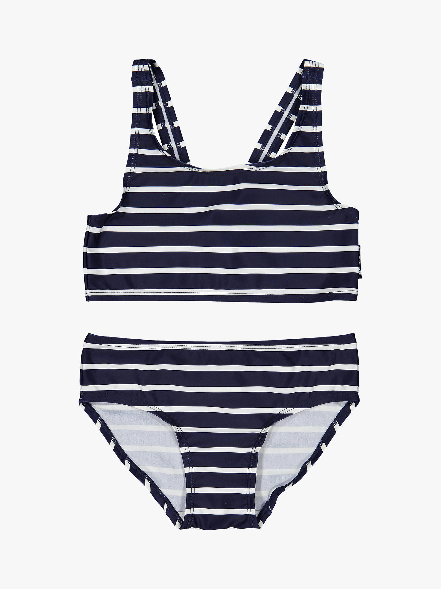 03cac7679ab Buy Polarn O. Pyret Children's Stripe Bikini Set, Blue/White, 1- ...