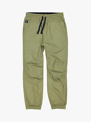 Polarn O. Pyret Children's Cotton Trousers, Green