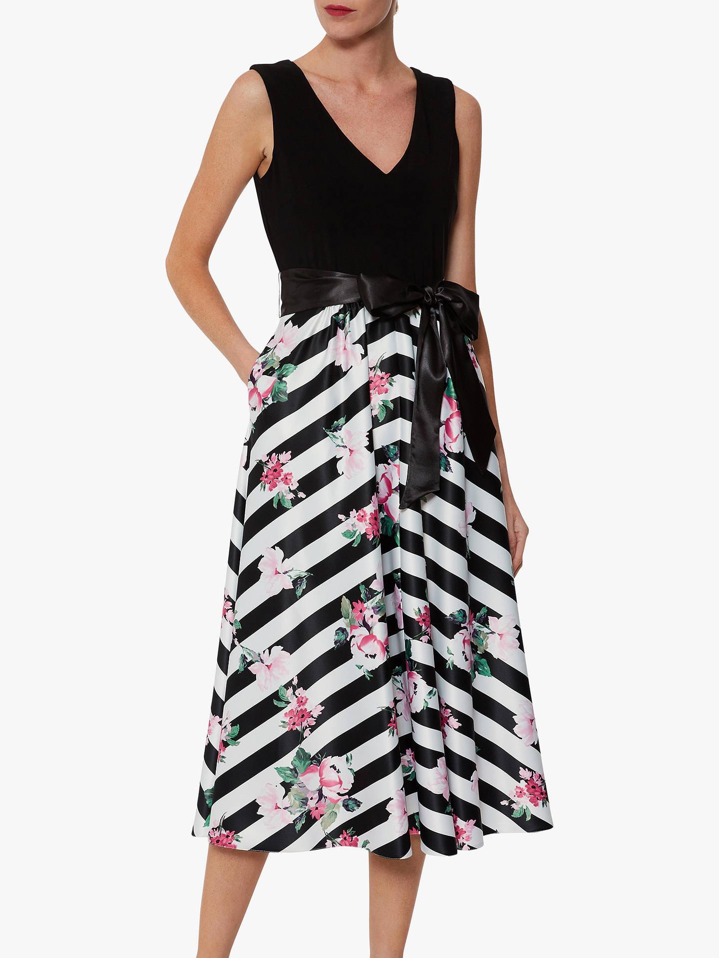 c35adb14caea5 Gina Bacconi Carlina Satin Dress, Black/White