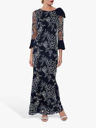 Gina Bacconi Taryn Maxi Dress, Spring Navy