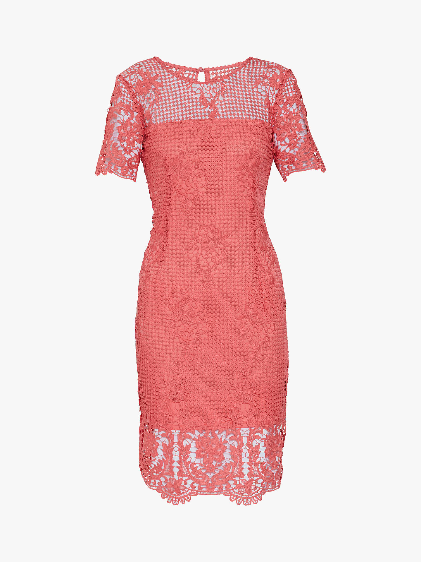 Buy Gina Bacconi Luzetta Floral Lace Dress, Dahlia, 18 Online at johnlewis.com