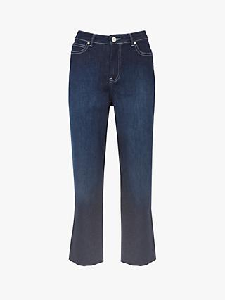 Mint Velvet Meribel Raw Hem Jeans, Dark Blue