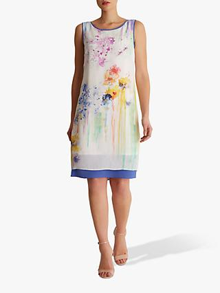 Fenn Wright Manson Kyoto Abstract Print Silk Dress, Ivory/Multi