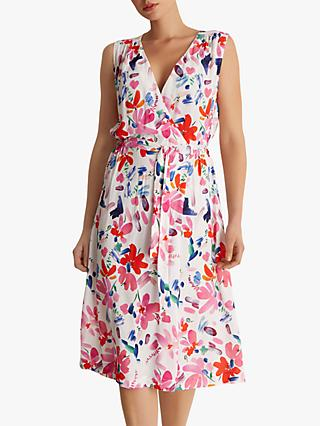 Fenn Wright Manson Myrtle Floral Dress, Bright Pink/Multi