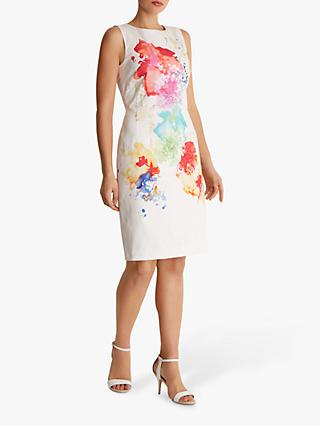 Fenn Wright Manson Ilya Abstract Floral Tailored Dress, Ivory/Multi