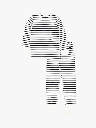 Polarn O. Pyret Stripe Pyjamas, White