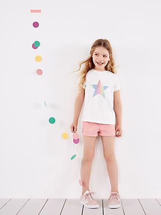 Mintie by Mint Velvet Girls' Rainbow Star T-Shirt, Ivory