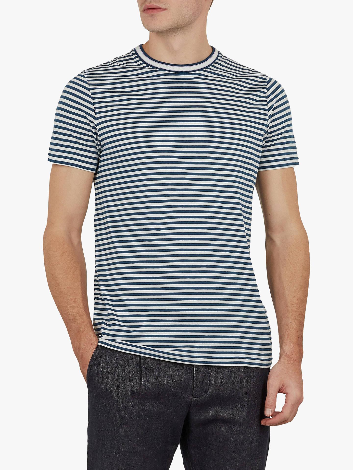 7592a33c Buy Ted Baker Lemur Striped T-Shirt, Dark Blue, L Online at johnlewis ...