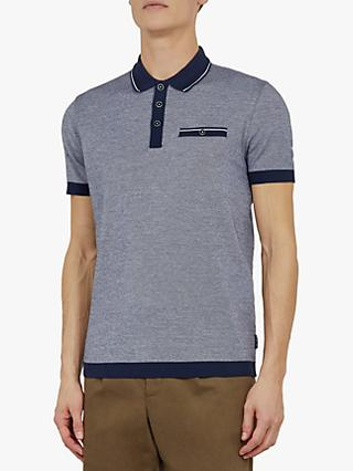 Ted Baker Troop Rib Detail Polo Shirt