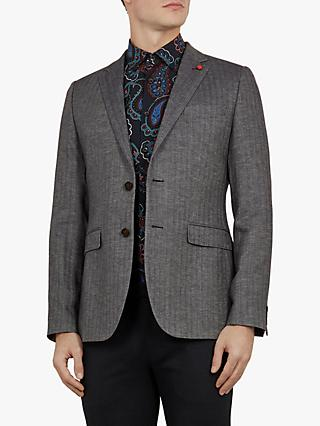 188c2c9d42b6 Ted Baker Balrom Linen Blend Herringbone Suit Jacket