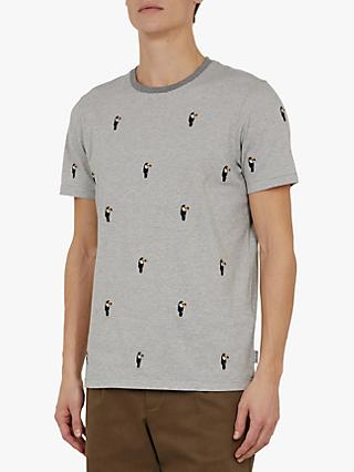 Ted Baker Vipa Embroidered T-Shirt, Grey Marl