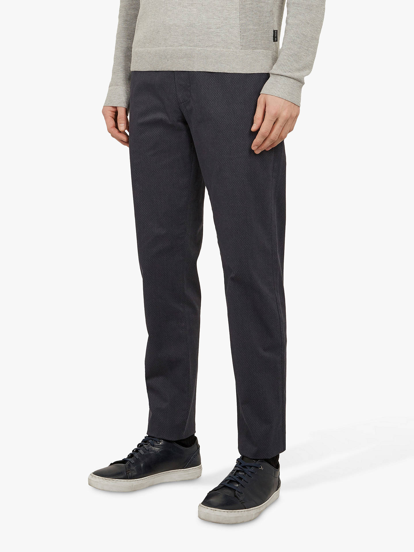 Ted Baker Icelnd Slim Fit Printed Trousers Navy At John