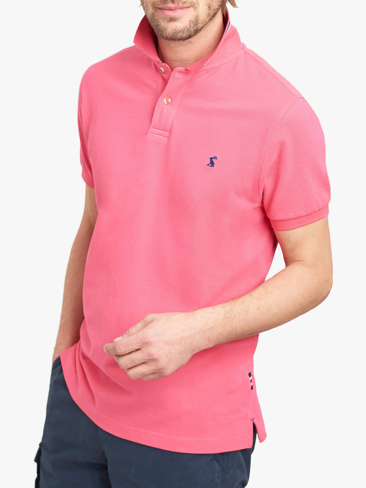 free shipping d0ff6 2014c Buy Joules New Maxwell Slim Fit Polo Shirt, Bright Pink, XS Online at  johnlewis ...