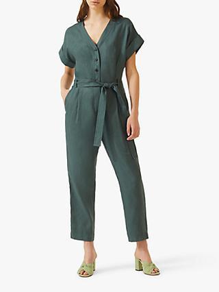 e9fb34a513 Jigsaw V-Neck Belted Linen Jumpsuit