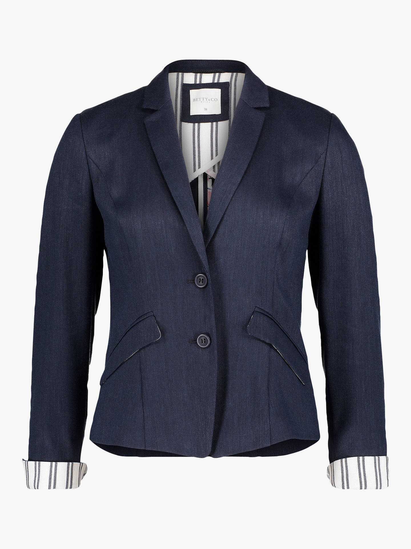 Buy Betty & Co. Tailored Blazer, Navy Blue, 14 Online at johnlewis.com