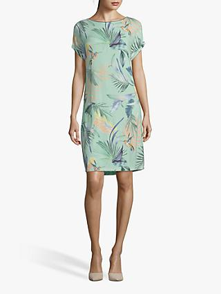 Betty & Co. Floral T-Shirt Dress, Emerald/Blue