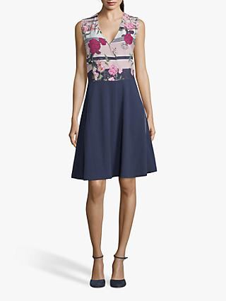 Betty & Co. Floral Shift Dress, White/Rosé