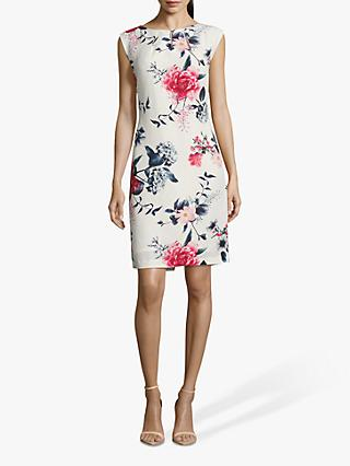 Betty & Co. Floral Dress, White/Red