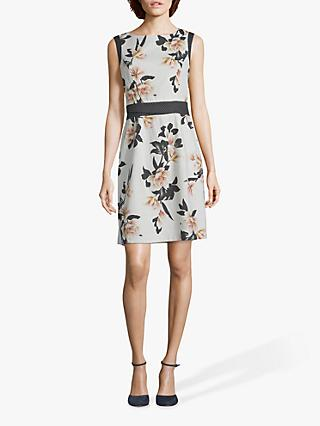 Betty & Co. Floral Print Shift Dress, White/Yellow