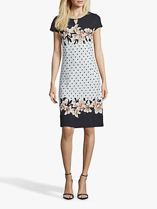 Betty & Co. Polka Dot Jersey Dress, Black/White