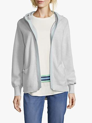 Betty & Co. Hooded Open Cardigan, Light Grey Melange
