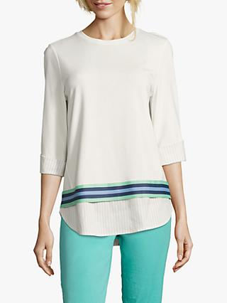 Betty & Co. Layered Sweatshirt, White/Silver