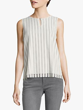 Betty & Co. Layered Stripe Top, White/Blue