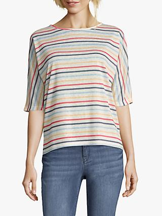 Betty & Co. Striped Fine Knit Top, Multi