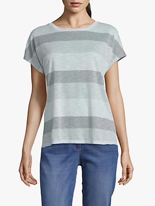 Betty & Co. Striped Top, Silver/Multi