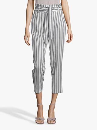 Betty & Co. Striped Trousers, White/Blue