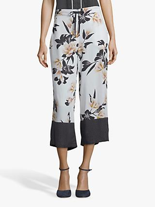 Betty & Co. Floral Print Culottes, White/Multi