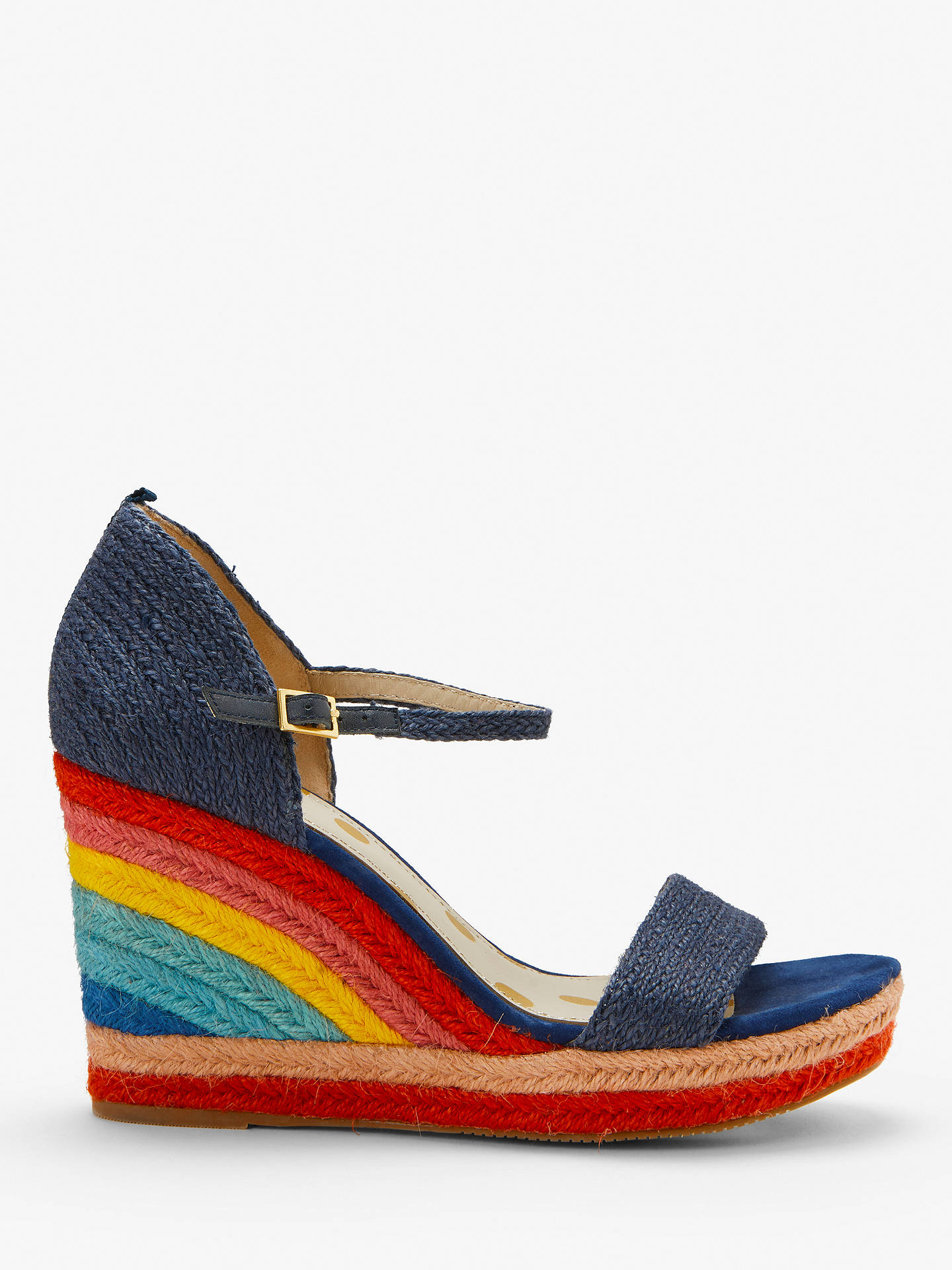 280f26d0864 Boden Lily Espadrille Wedges, Navy, Navy