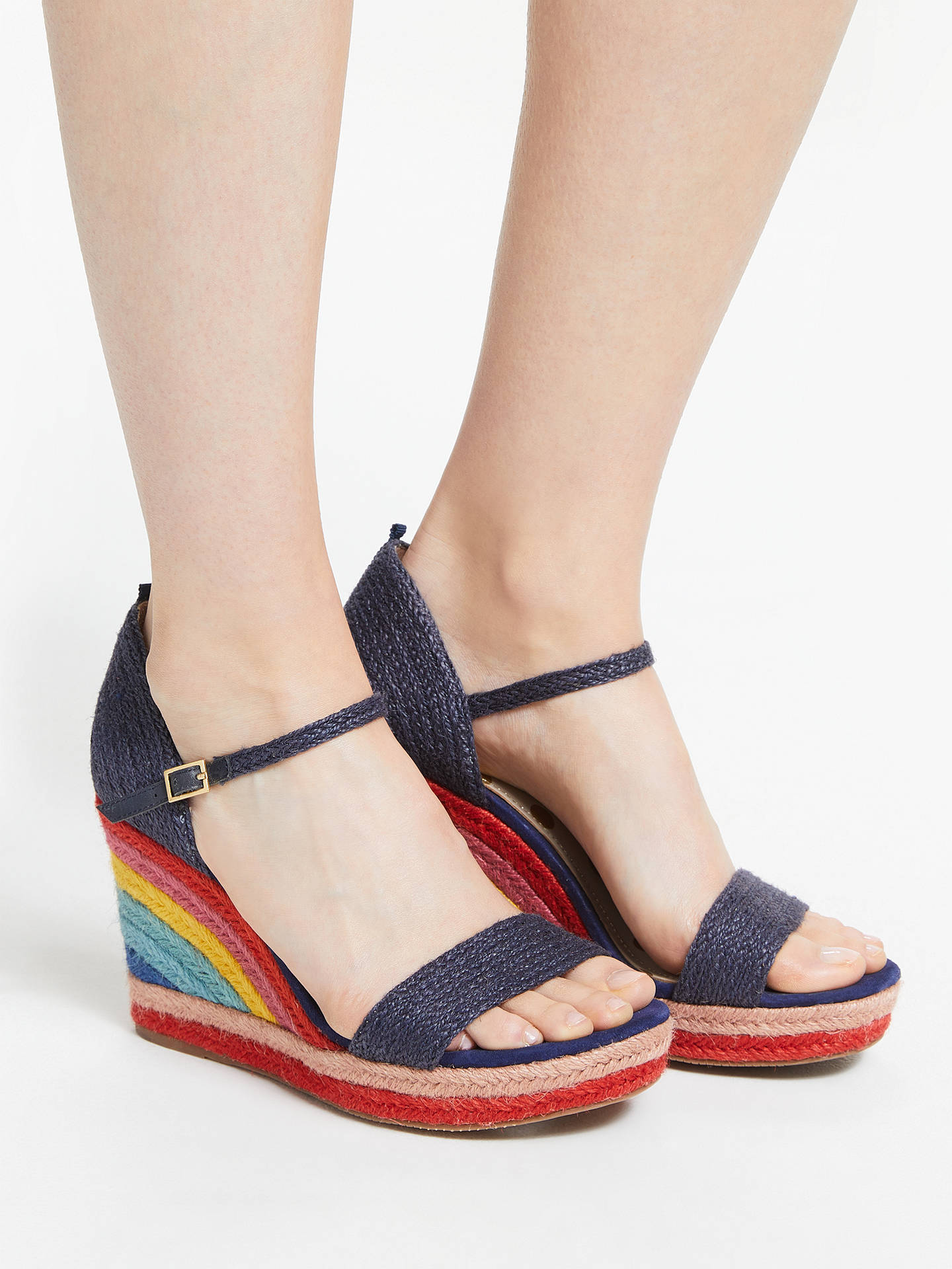 7db2656389e Boden Lily Espadrille Wedges, Navy, Navy