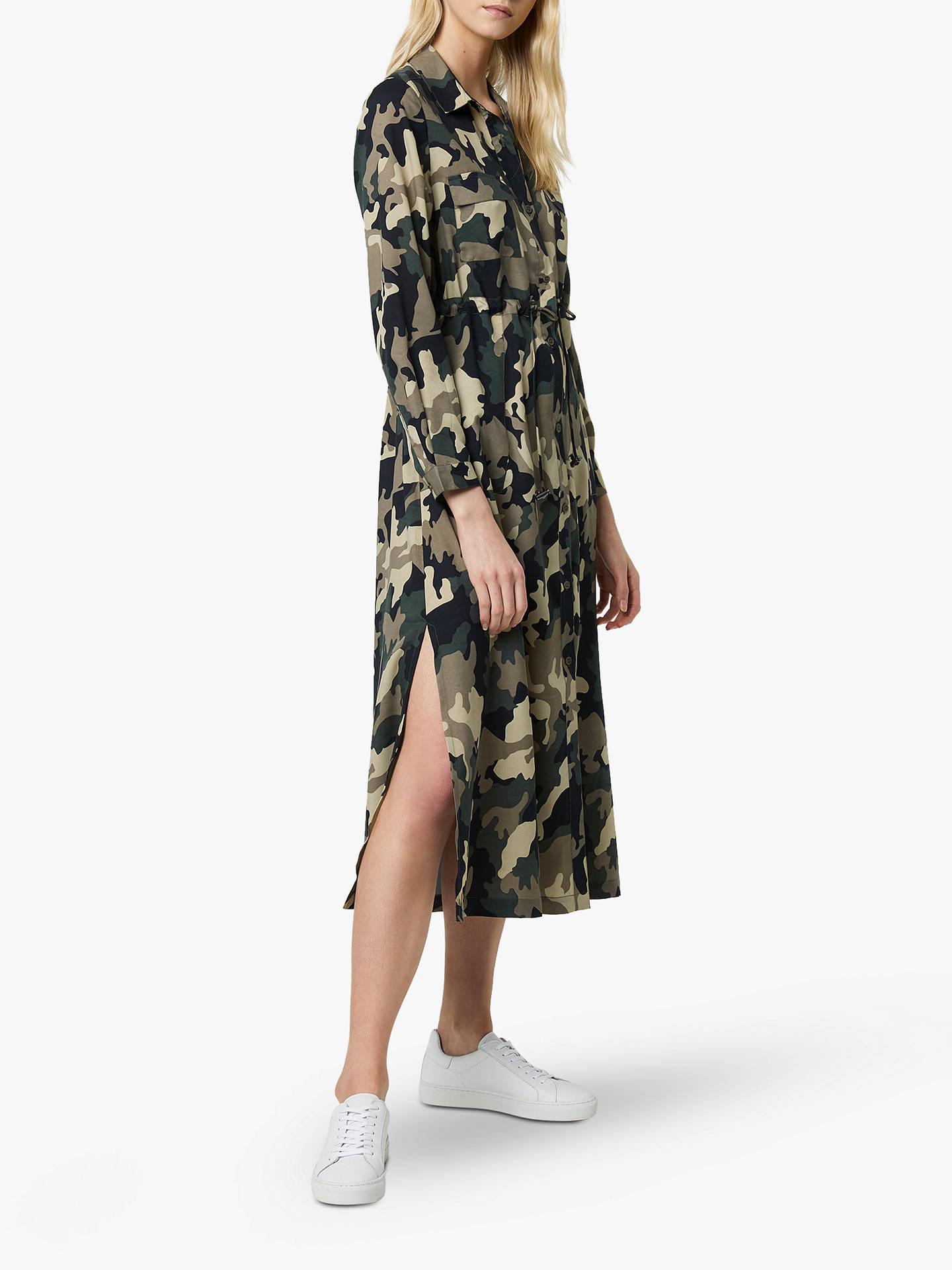 8672cc1f786 ... Buy French Connection Camo Midi Shirt Dress