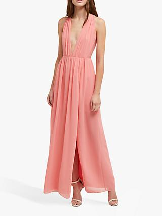 French Connection Aster Halterneck Maxi Dress, Pink Whip