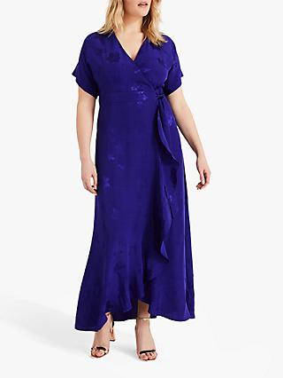 Studio 8 Phoebe Jacquard Wrap Maxi Dress, Ultra Violet