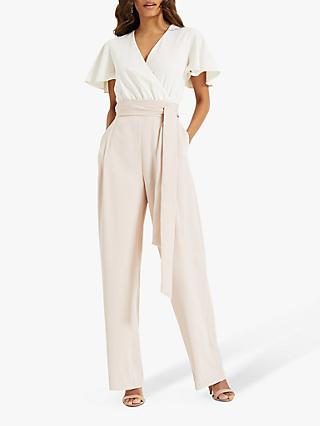 Phase Eight Nerissa Floaty Jumpsuit, Camo/Ivory