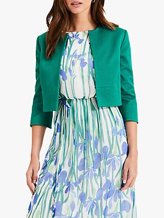 Phase Eight Toni Textured Jacket, Emerald