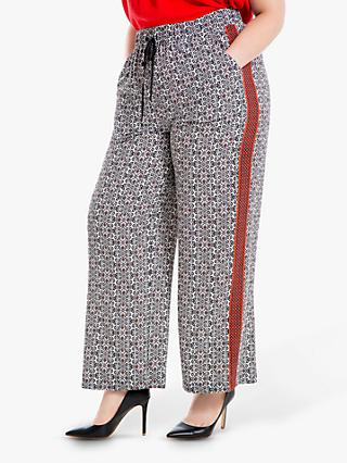 4e82775a6 Max Studio + Cropped Print Wide Leg Trousers