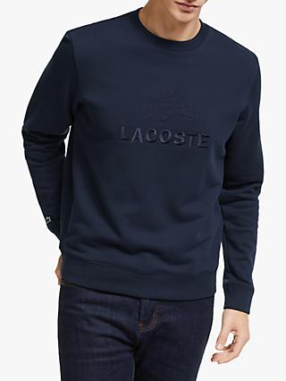 Lacoste Embroidered Tonal Logo Crew Sweatshirt