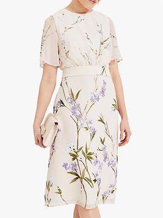 Phase Eight Eden Floral Dress, Almond