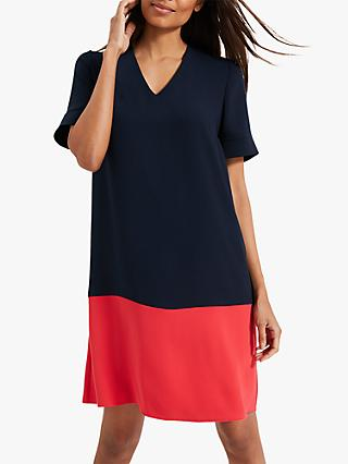 Phase Eight Jodie Colourblock Dress, Navy/Red