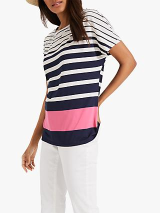 Phase Eight Stacy Stripe Top, Navy