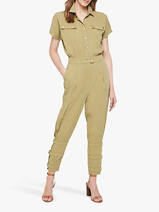 Damsel in a Dress Violia Tapered Ankle Detail Jumpsuit, Khaki