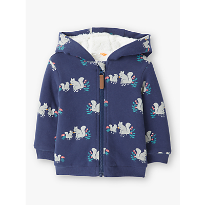 John Lewis & Partners Baby Squirrel Hooded Cardigan, Navy