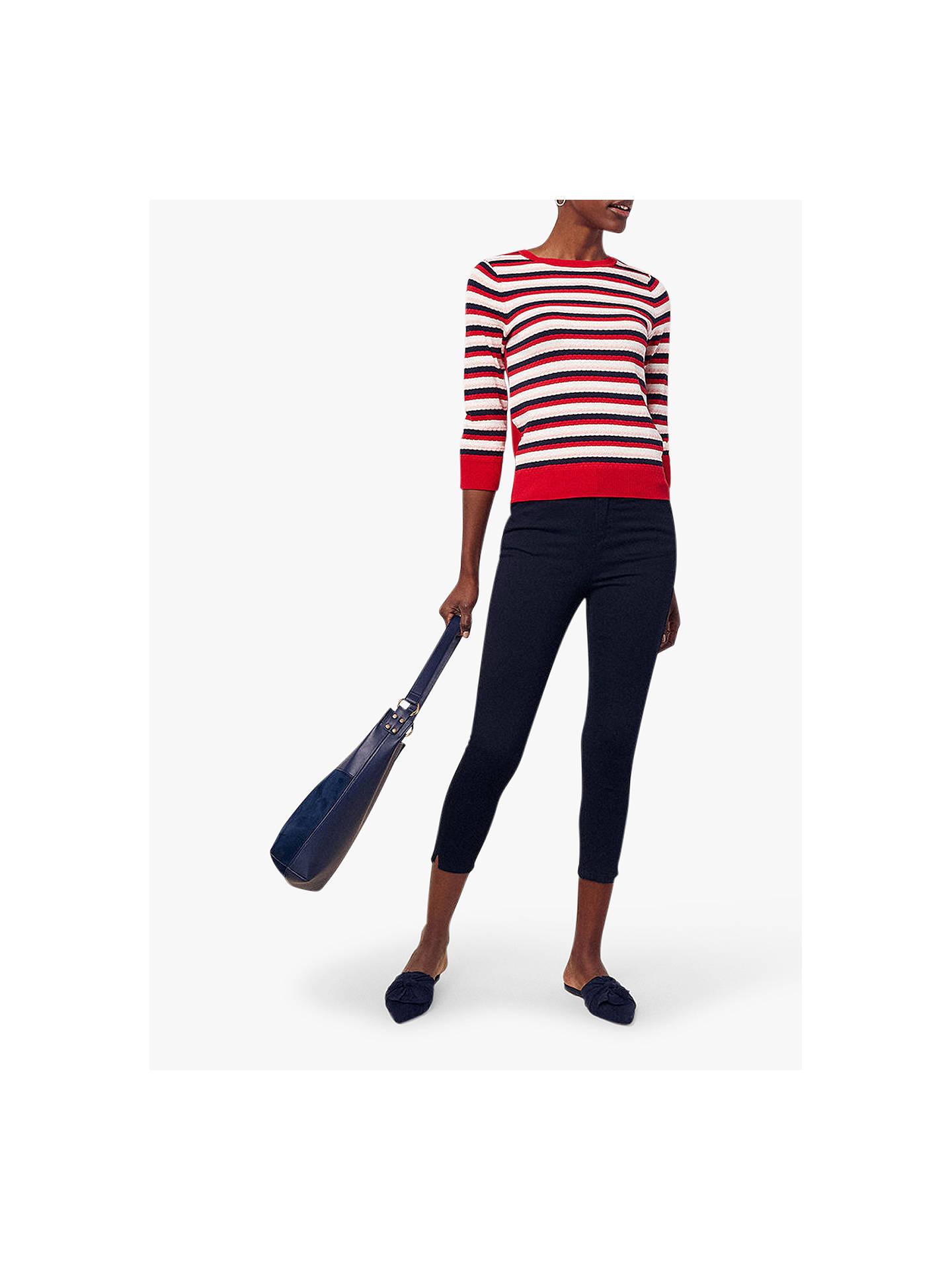 45262e3d8552 Buy Oasis Grace Capri Trousers, Navy, 14 Online at johnlewis.com ...